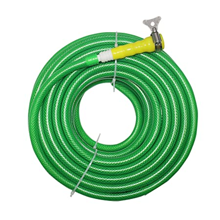 TechnoCrafts PVC Braided Water Hose for Hose Accessories 30 Meter (100 Feet) 1/2