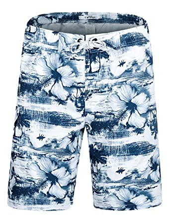 1463a1b170 ELETOP Men's Swim Trunks Quick Dry Board Shorts Beach Holiday Swimwear  Print Bathing Suits Coconut Tree