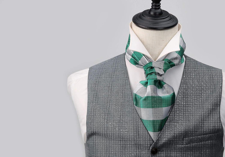 HISDERN Mens Cravat Ascot 3-pack combo Paisley Floral Scarf Tie
