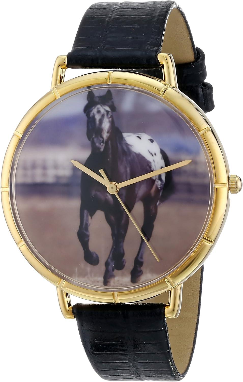 Whimsical Watches N-0110022 - Reloj analógico de Cuarzo Unisex, Correa de Cuero