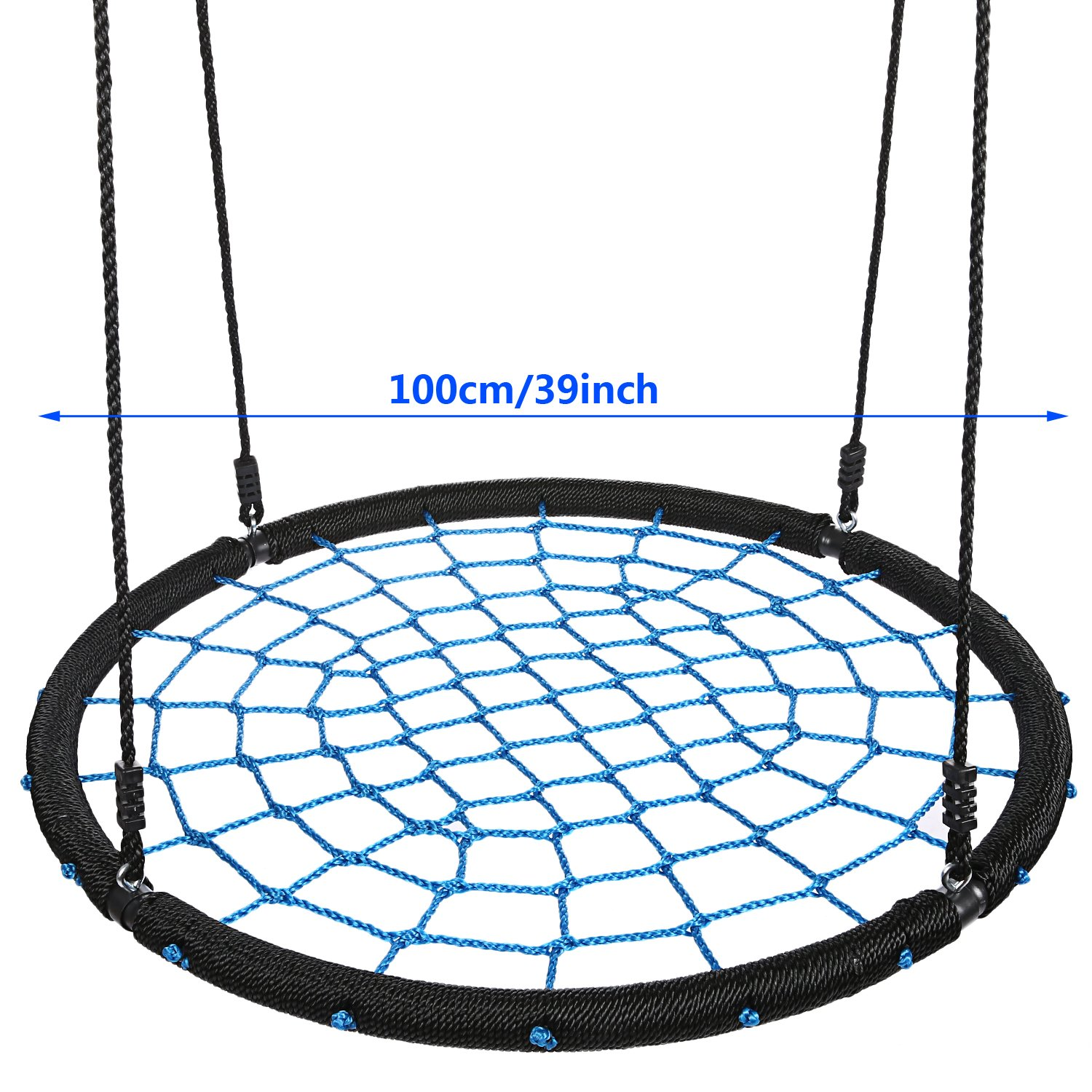 Outdoor Net Swing 39inch Diameter Foldable 2 Person Tree Swing for Garden Kids Children Boys Girls by PEATAO (Image #3)
