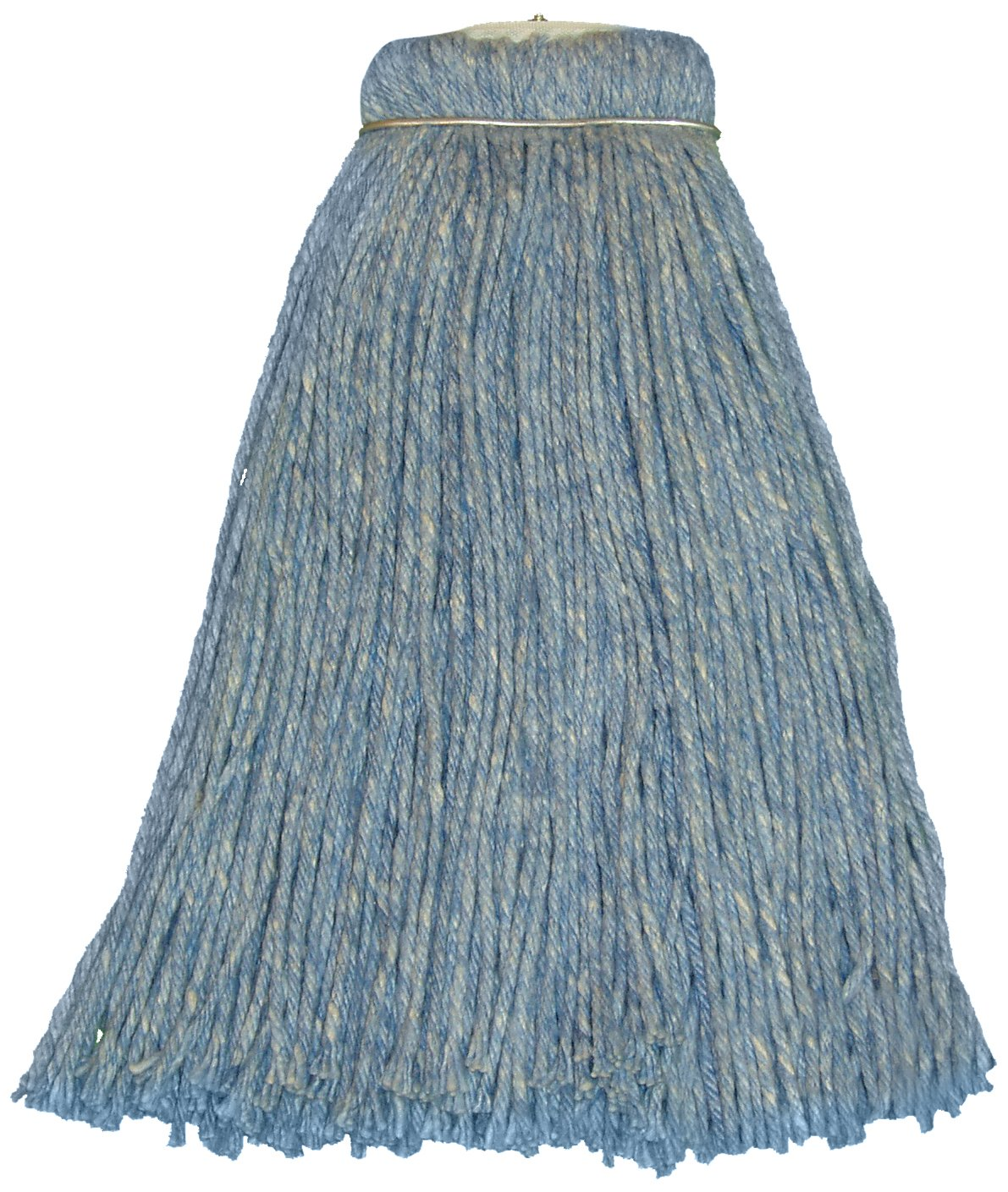 Zephyr 20916 Blue Blendup Blended Natural and Synthetic Fibers 16oz Screwflat Cut End Mop Head (Pack of 12)
