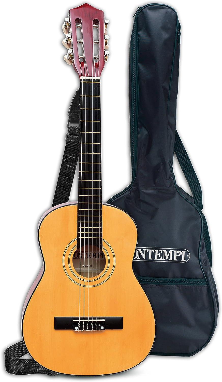 Bontempi-21 752 Guitarra clásica de Madera y Bolsa de Transporte, Multicolor, 75 cm (Spanish Business Option Tradding)