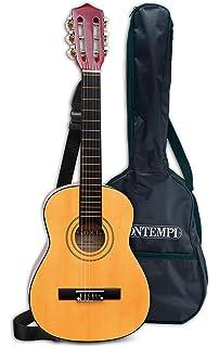 Bontempi-21 752 Guitarra clásica de Madera y Bolsa de Transporte, Multicolor, 75