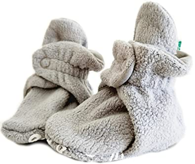67f6302e26b52 Cosy Fleece Baby Booties - Organic Cotton Lined. Award-Winning Booties with  Adjustable Poppers & Non-Slip Sole.