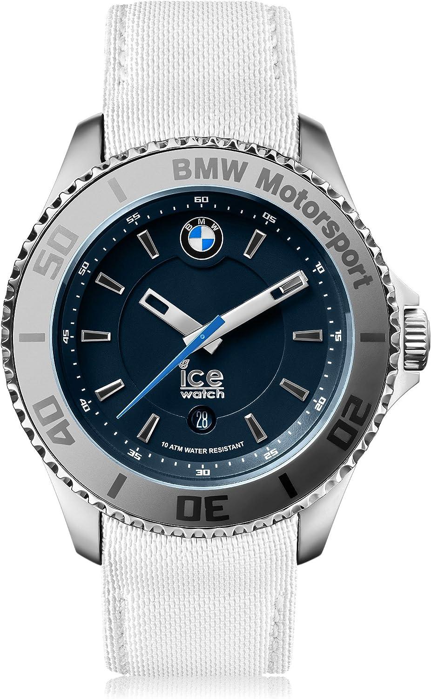 Ice-Watch - BMW Motorsport (Steel) White - Reloj Blanco para Hombre con Correa de Cuero
