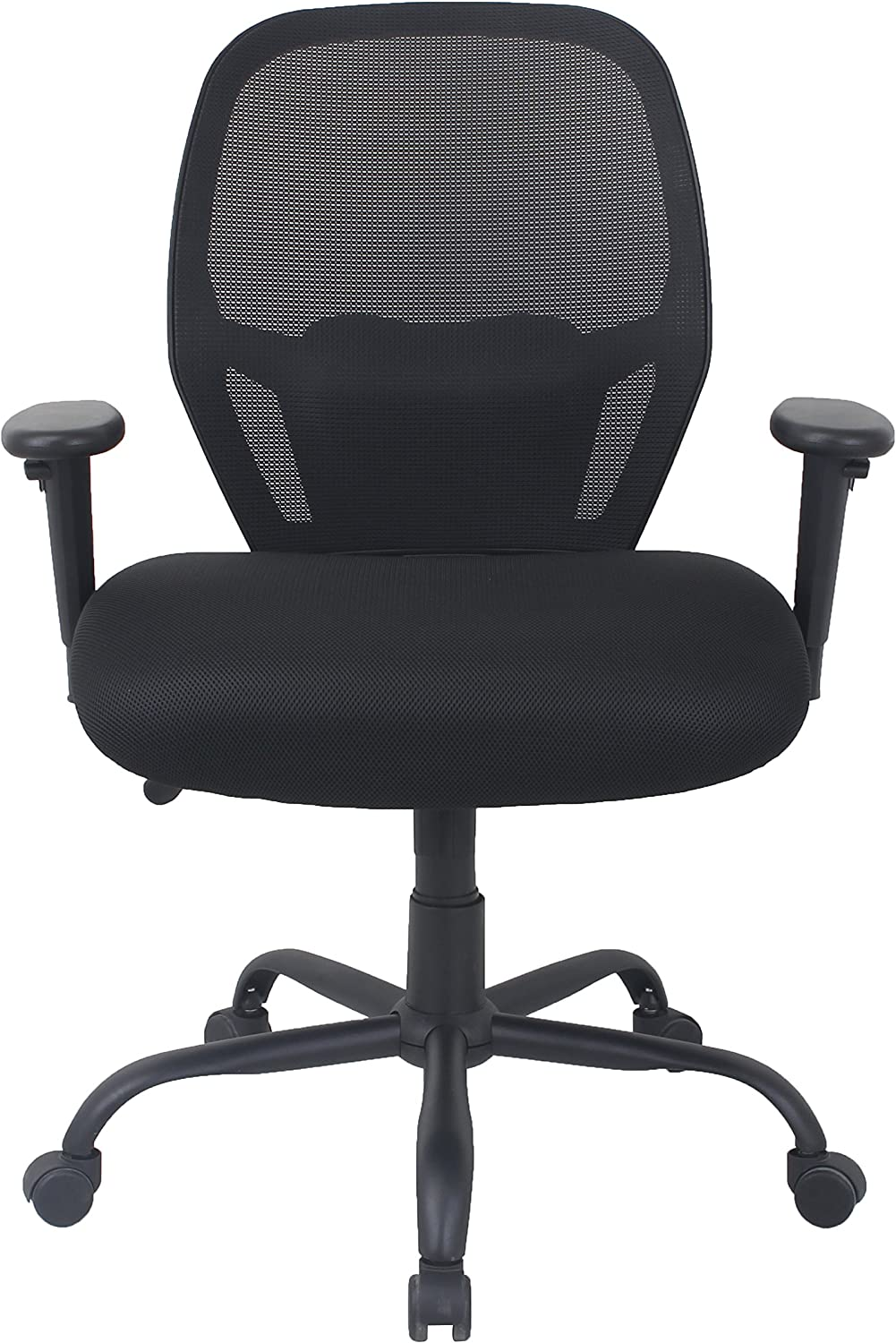 AmazonBasics Big Tall Swivel Office Chair – Mesh with Lumbar Support, 450-Pound Capacity – Black, BIFMA Certified