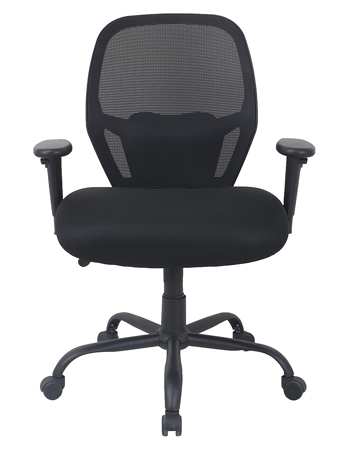 AmazonBasics Big & Tall Swivel Chair - Mesh with Lumbar Support, 450-Pound Capacity - Black