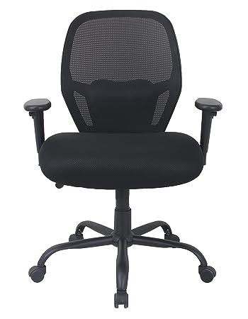 AmazonBasics Big Tall Swivel Office Chair – Mesh with Lumbar Support, 450-Pound Capacity – Black
