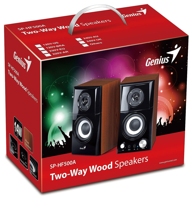 Genius SP-HF500A - Altavoces de ordenador (14 W, MP3, 82 dB), color negro 31730905100