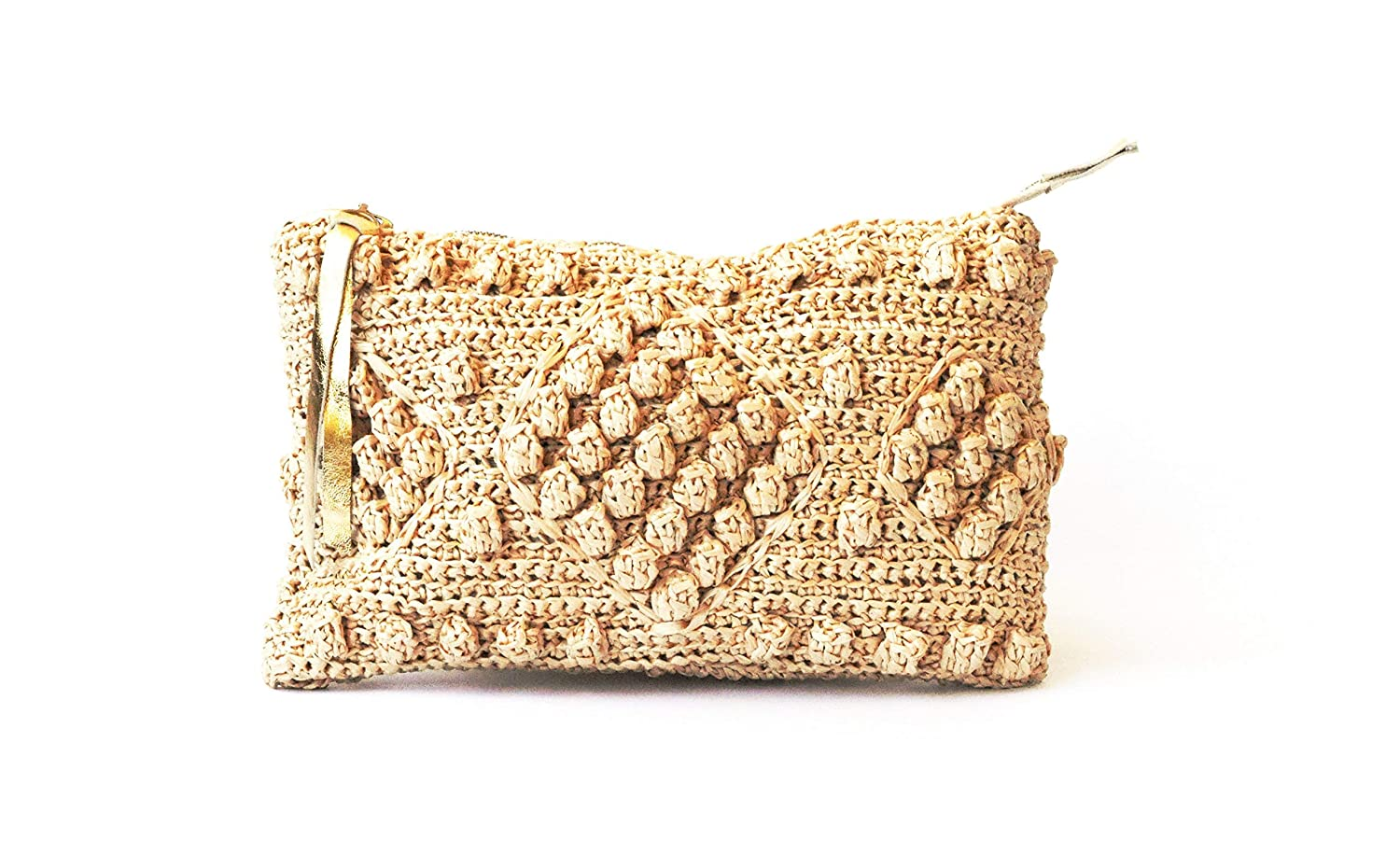 best quality for 2019 original quality products Amazon.com: Straw Beach Bag Natural Raffia Woven Clutch ...