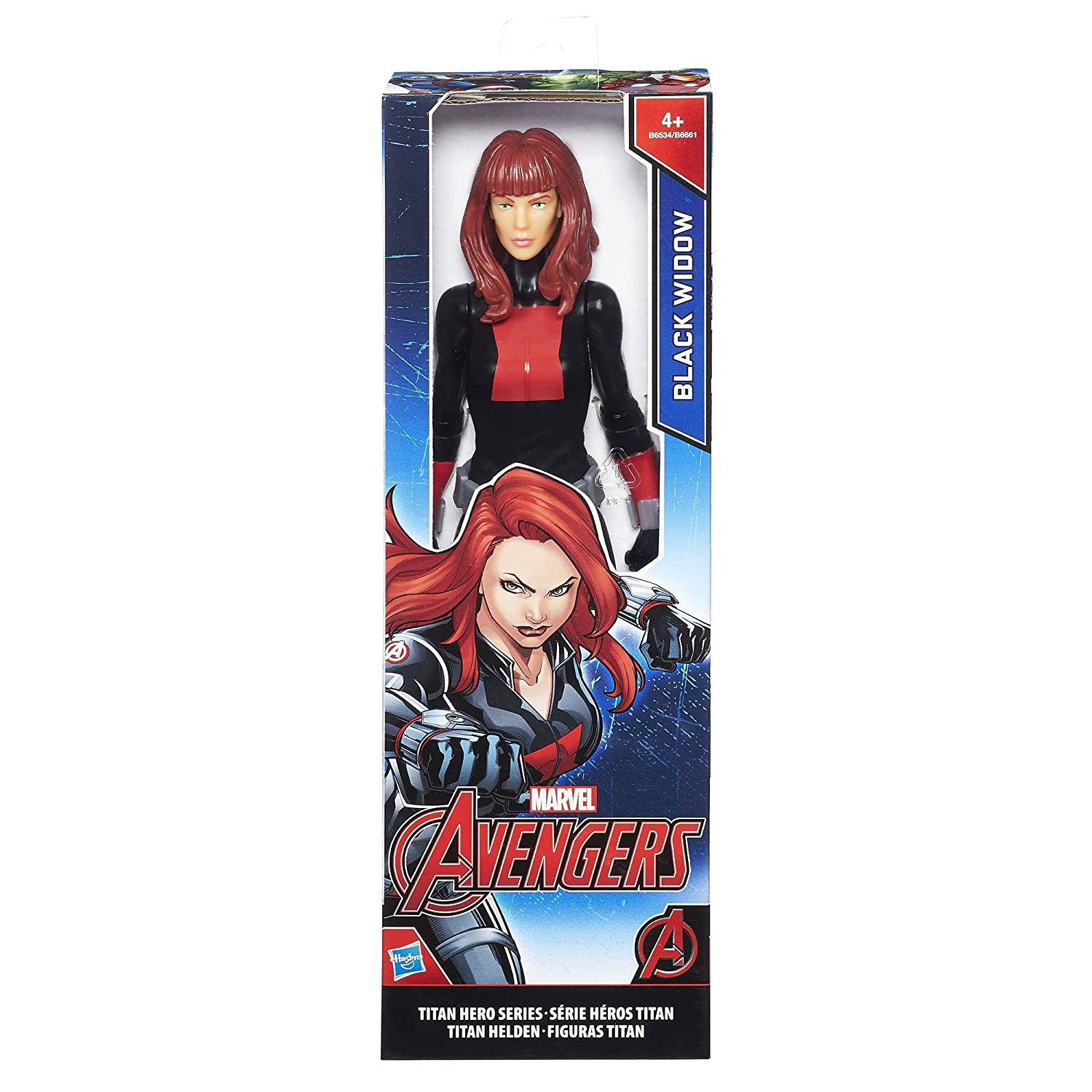 Avengers Marvel Titan Hero Series Black Widow Figure, 12-Inch
