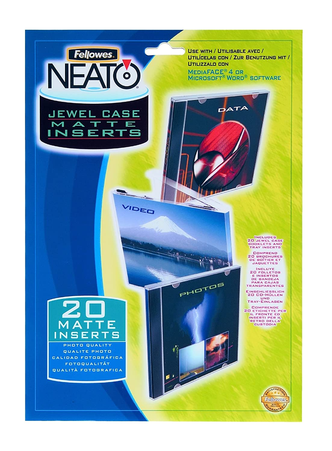 Fellowes Jewel Case Booklets and Tray Liners 99966