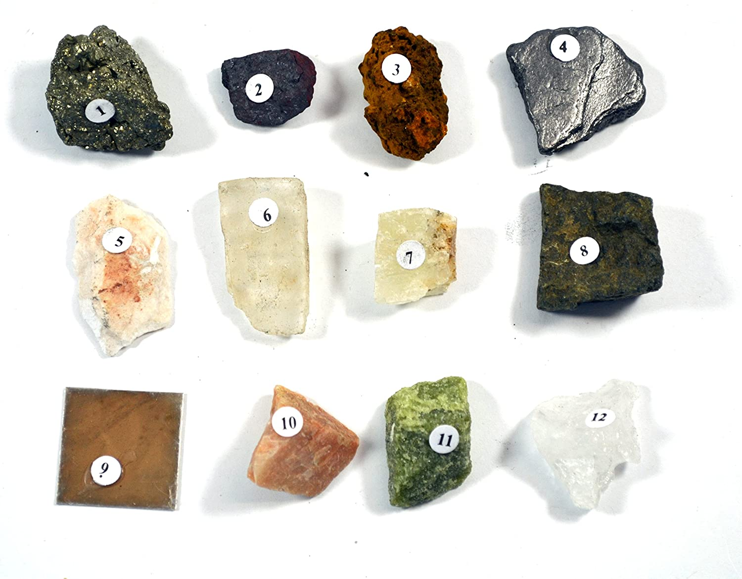 1 Contains 12 specimens measuring approx Physical Properties of Minerals Kit - Eisco Labs 3cm