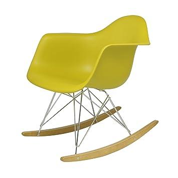 Vitra Eames Plastic Armchair RAR Schaukelstuhl Gelb