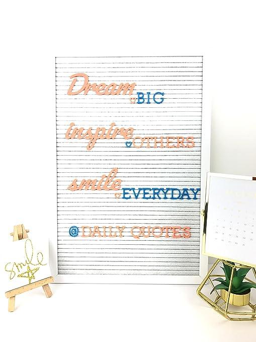 Coral y azul Premium de color Máquina de escribir y cepillo MT cursiva letras para una junta de fieltro, 290 intercambiables accesorio personajes como el ...