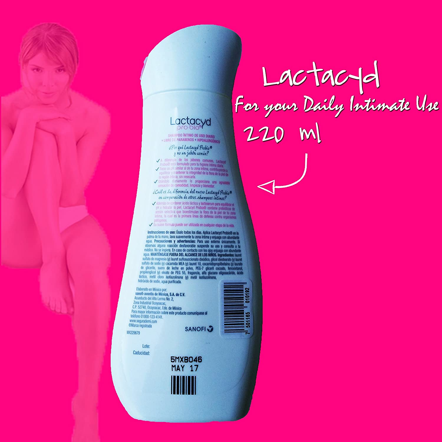 Amazon.com: Lactacyd Shampoo the Original for Intimate Health, Femina Daily Protective Created for the Care and Welfare of the Intimate Health of ...