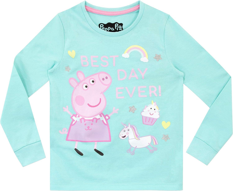 Peppa Pig Pijamas de Manga Larga para ni/ñas Unicornio Ajuste Ce/ñido
