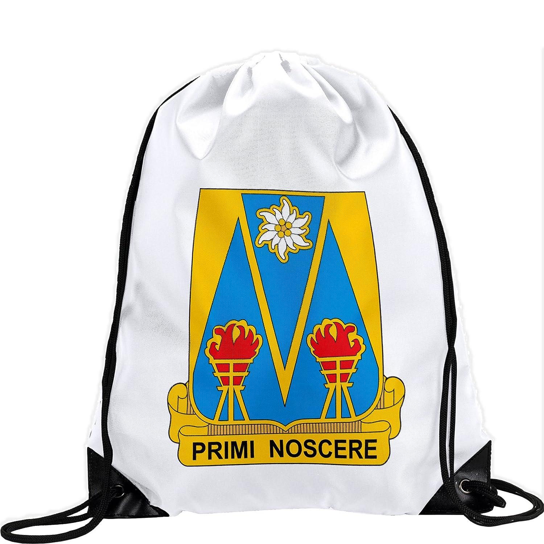 Large Drawstring bag with US Army 303rd Militaryインテリジェンス大隊、Du – 長持ち鮮やかなイメージ B01AYF2E72