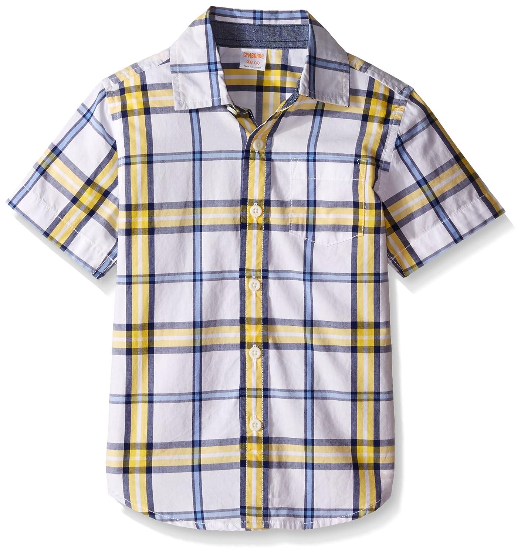 Gymboree Boys' Big Plaid Short Sleeve Woven Shirt with Pocket