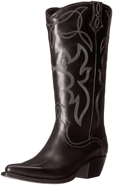 FRYE Women's Shane Embroidered Tall Western Boot B01BMRWKVG 7.5 B(M) US Black