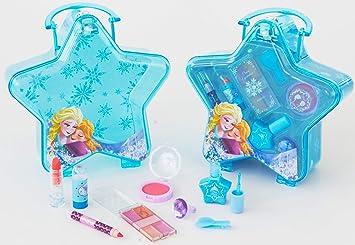 Disney Frozen Blauer Schminkkoffer In Stern Form Mit Henkel 1er