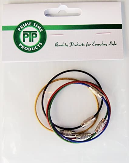 Image Unavailable. Image not available for. Color  Cable Key Ring Color Coated  Wire ... 7223d0f63