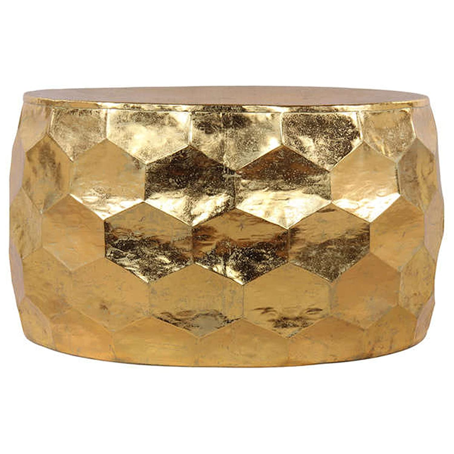 Amazon Geometric Hammered Gold Leaf Coffee Table Kitchen
