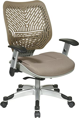 SPACE Seating REVV Self Adjusting SpaceFlex Latte Backrest Support and Paddeed Latte Mesh Seat