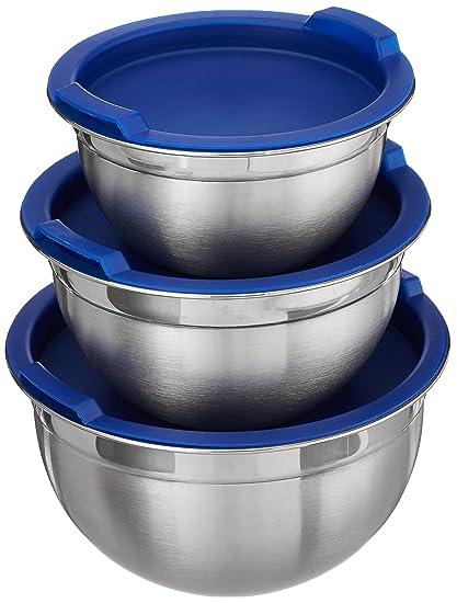 Vinod Cookware Stainless Steel Inner Lid Bowl Set, Set of 3, Silver