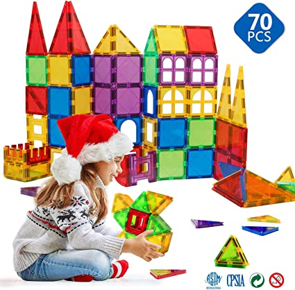 wood shape lot ALL PIECES Building Blocks Tiles Toys Kids Teen Toddler Magnetic