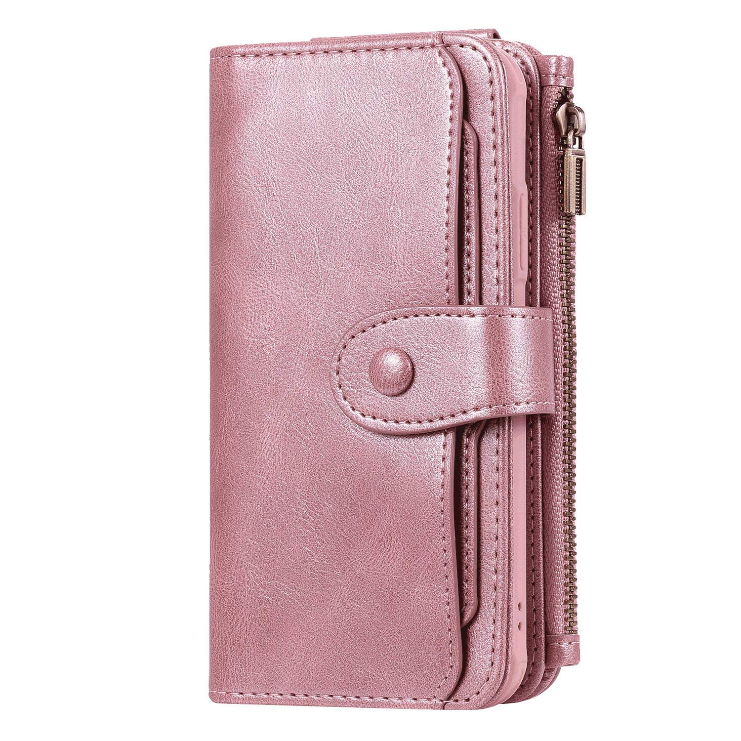 Flip Case for iPhone Xs Leather Cover Business Gifts Wallet with Extra Waterproof Underwater Case