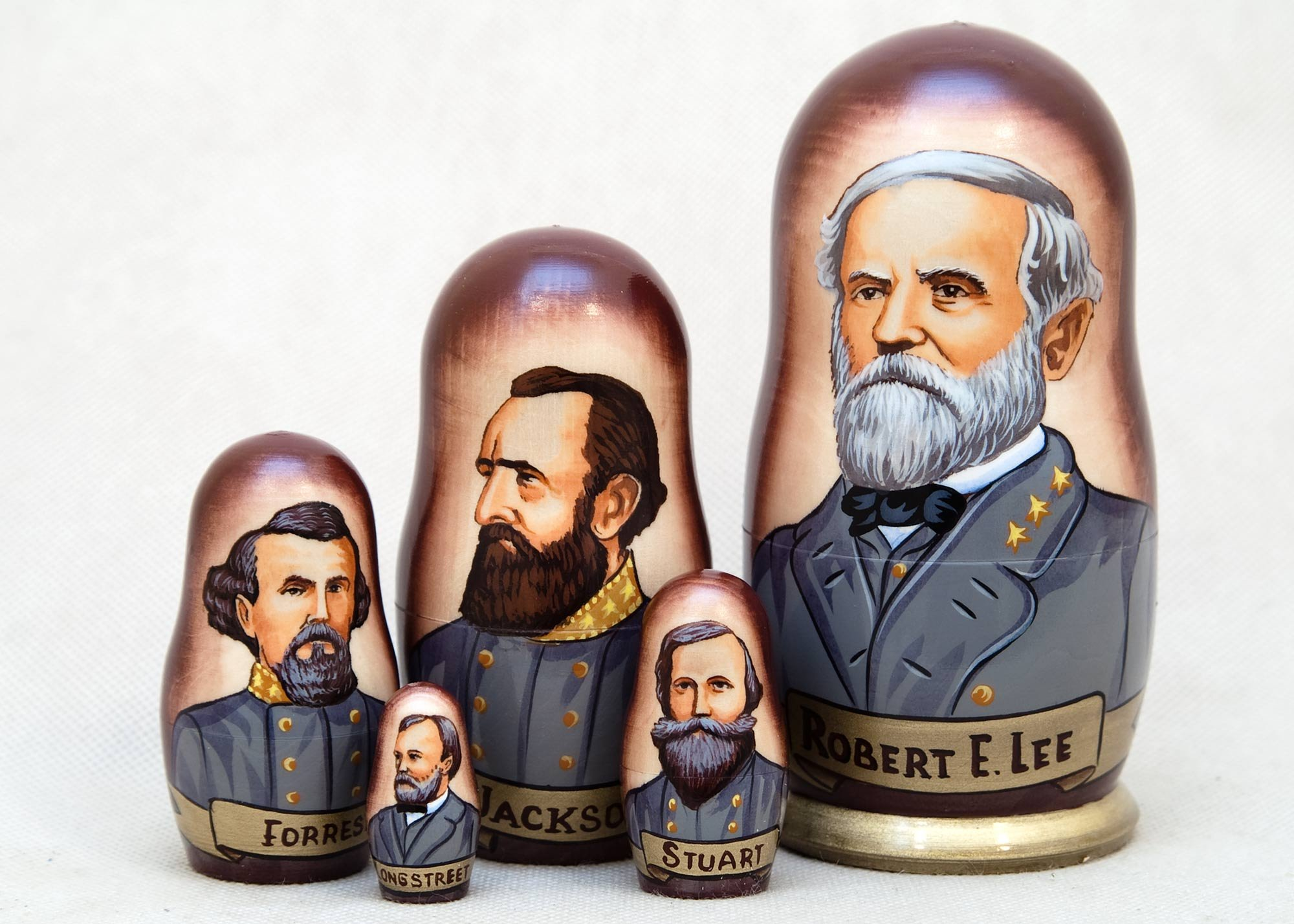Confederate Generals Nesting Doll 5pc./6'' by Golden Cockerel