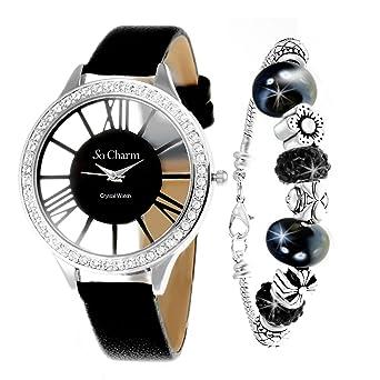 Coffret montre élégante So Charm ornée de Cristaux Swarovski® et son bracelet mode