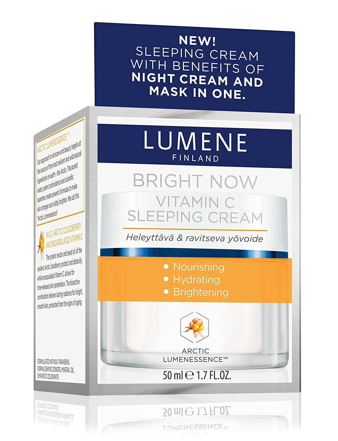 Lumene Bright Now Vitamin C Sleeping Cream 1.7 Fl.Oz. 50ml