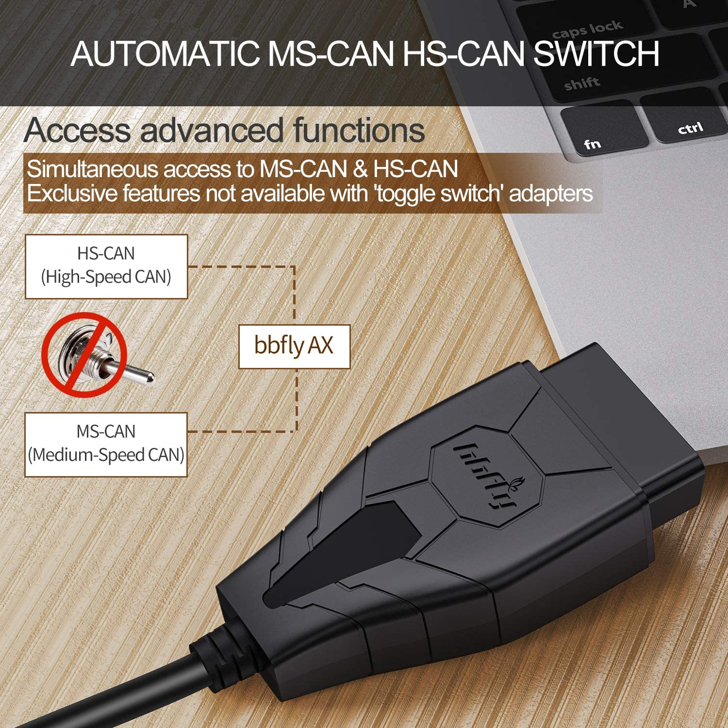 FORScan OBD2 bbfly AX USB Adapter Scanner Compatible with Ford