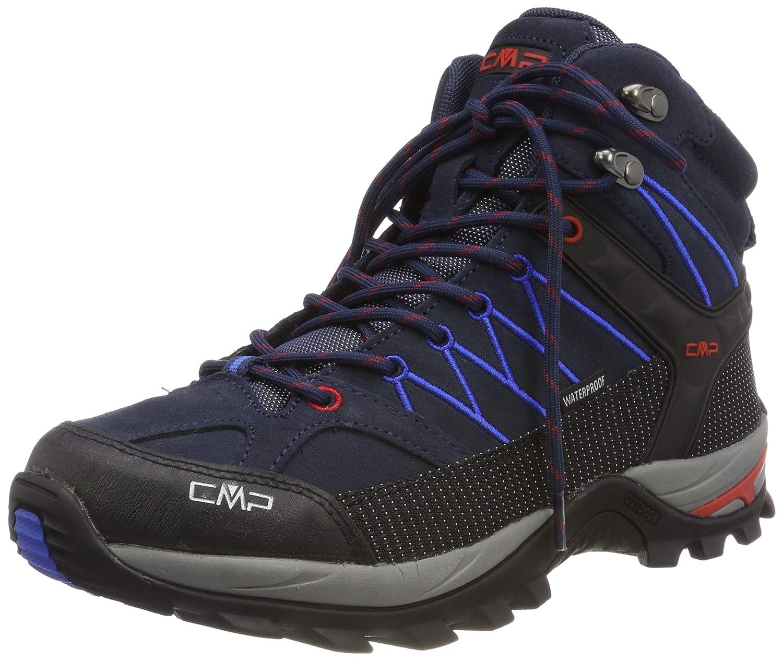 Bleu (B.bleu-royal 10nc) 44 EU CMP Rigel Mid, Chaussures de Trekking et randonnée Homme