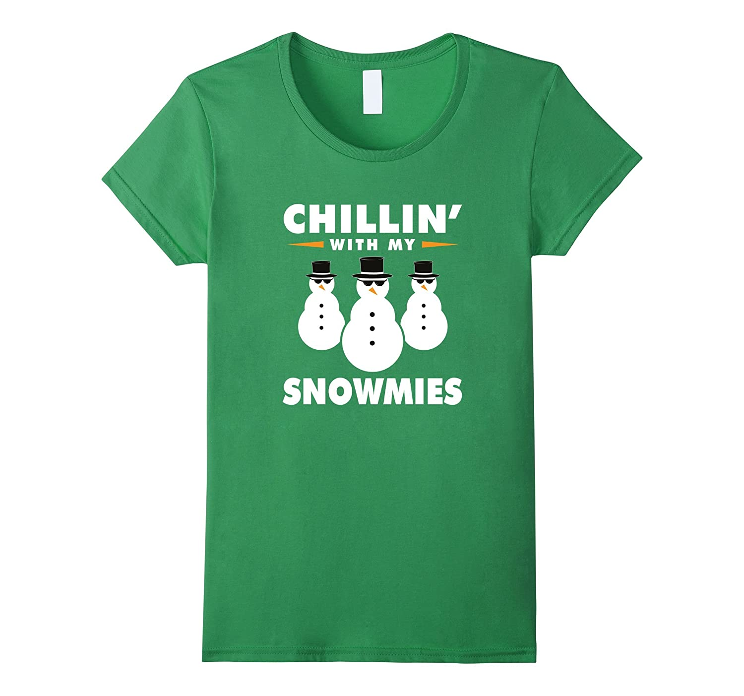 """""""Chillin' with my Snowmies"""" Snowman Squad Christmas T-Shirt"""