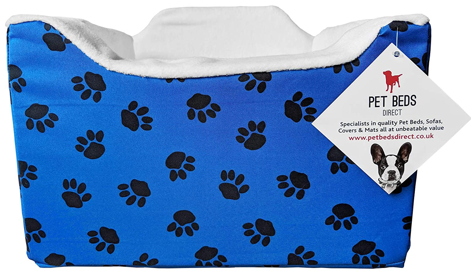 Pet Beds Direct Car Seat for Dogs /& Pets Travel Basket//Safety Harness Car Seat in Medium Blue Paws 32x55x55