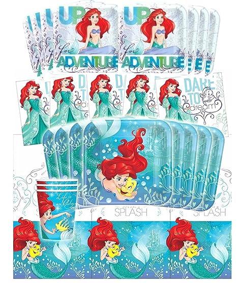 Amazon.com: Disney Ariel la Sirenita Deluxe fiesta de ...