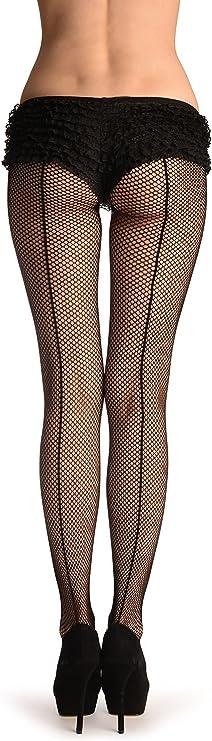 Black Back Seam Fishnet Stockings BS8022