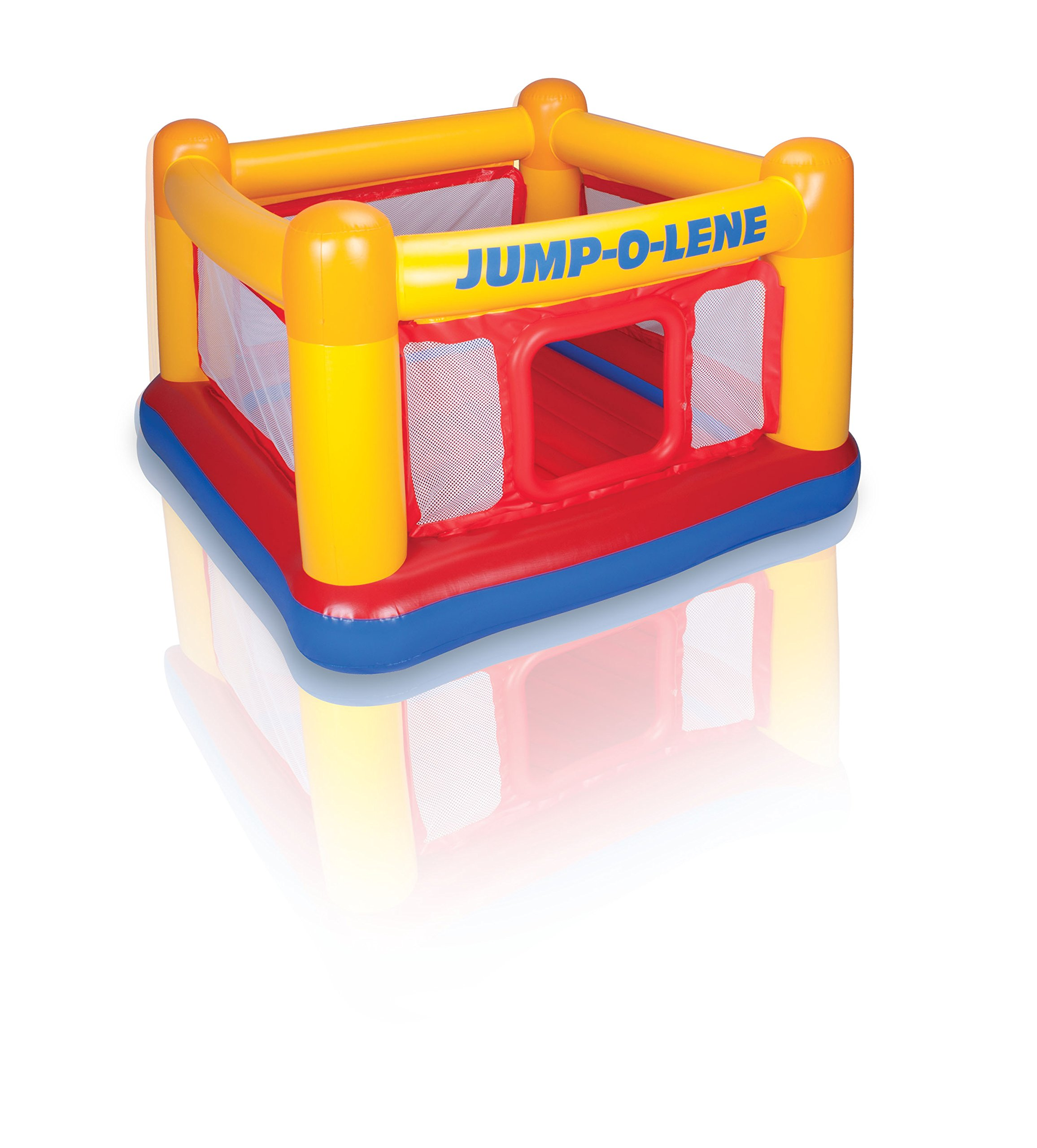 Intex Playhouse Jump-O-Lene Inflatable Bouncer, 68'' X 68'' X 44'', for Ages 3-6