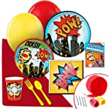 Superhero Comics Party Supplies - Value Party Pack
