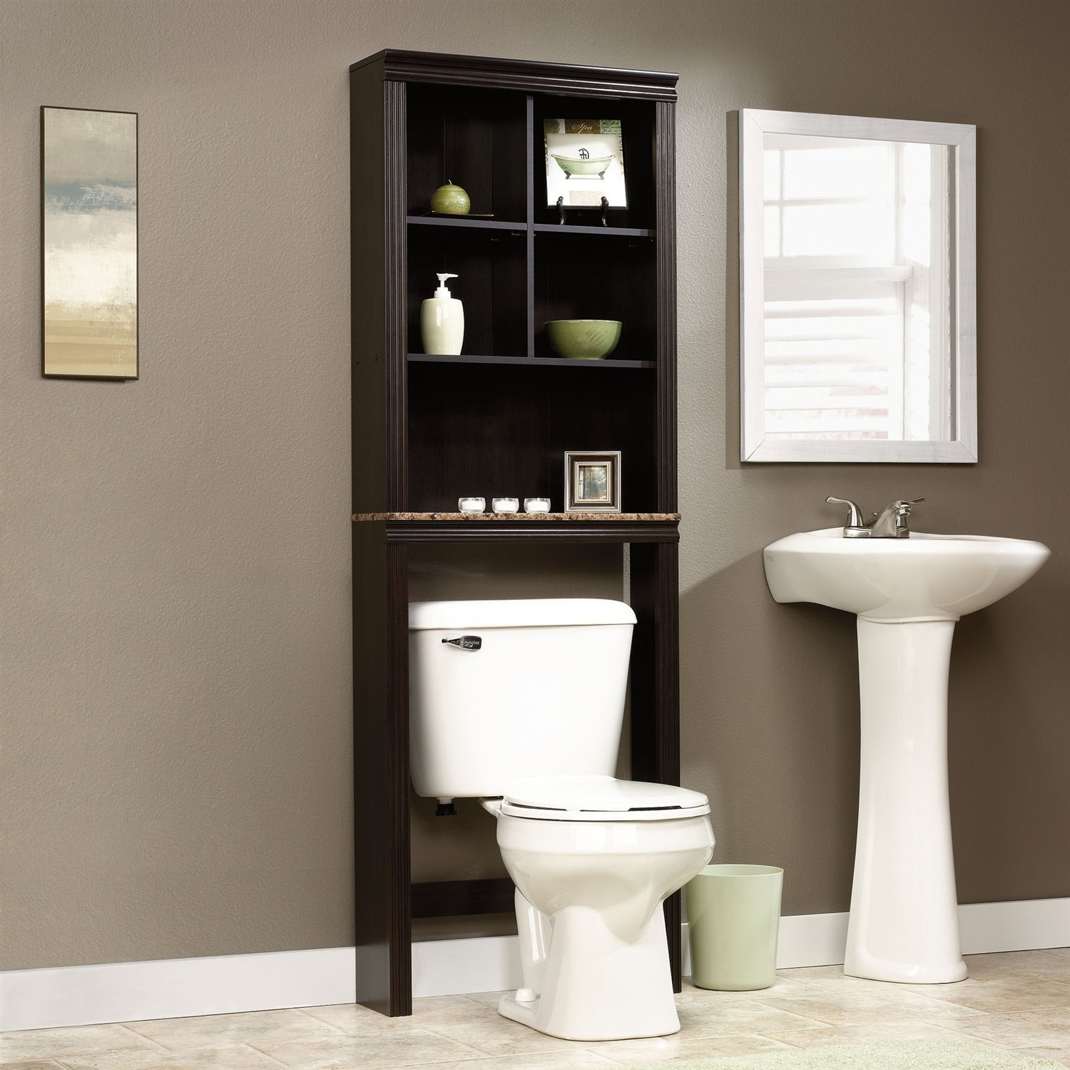 Amazon.com: Over Toilet Bathroom Storage Cabinet Shelves Cubby ...
