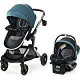 Graco Modes Nest Travel System | Includes Baby Stroller with Height Adjustable Reversible Seat, Bassinet Mode, Lightweight Al