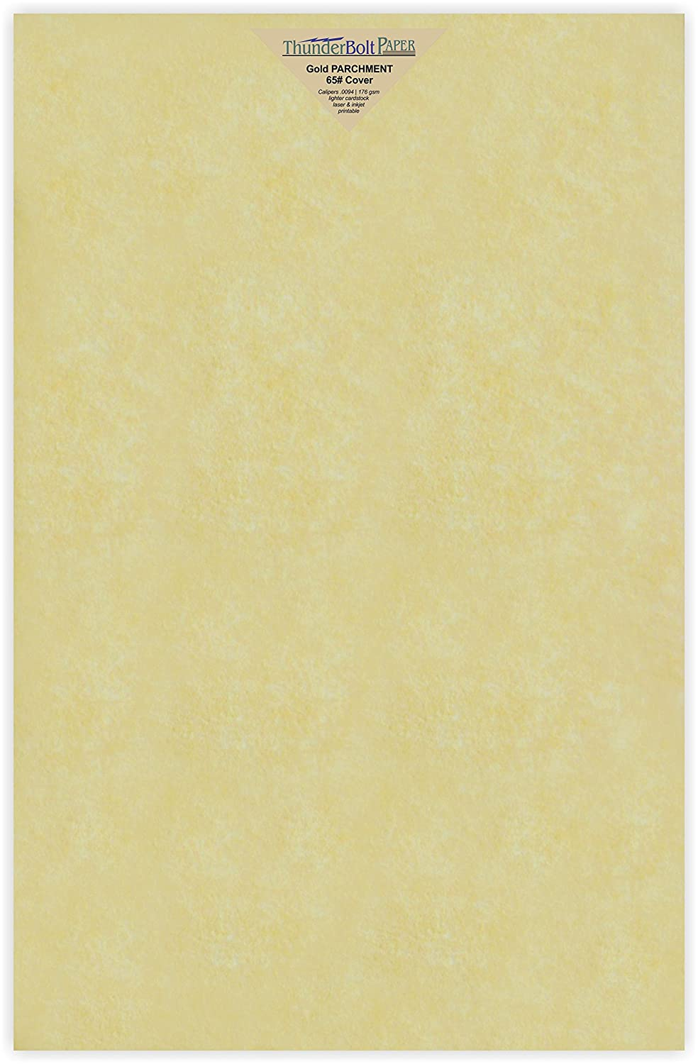 25 Gold Parchment 65lb Cover Weight Paper - 12 X 18 (12X18 Inches) Large|Poster Size - Printable Cardstock Colored Sheets Old Parchment Semblance TBP