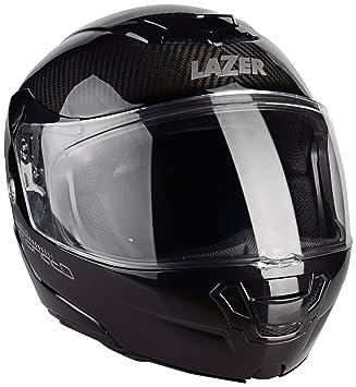 Lazer MLE041000D32S Monaco Evo Pure Carbon Casco Moto Modular, Negro Carbon, Talla XXS