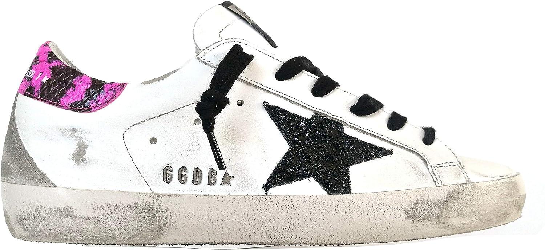 Golden Goose - Zapatillas deportivas de mujer Vintage Superstar G36WS590.S91 blanco fucsia