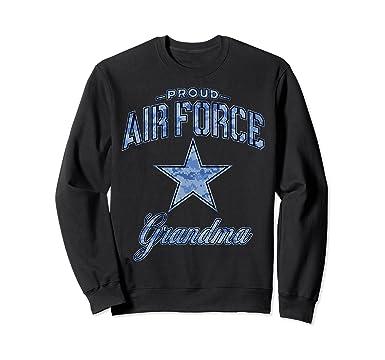 Amazon.com  Air Force Grandma Sweatshirt for Women (Camo)  Clothing 23bd3e7ba8
