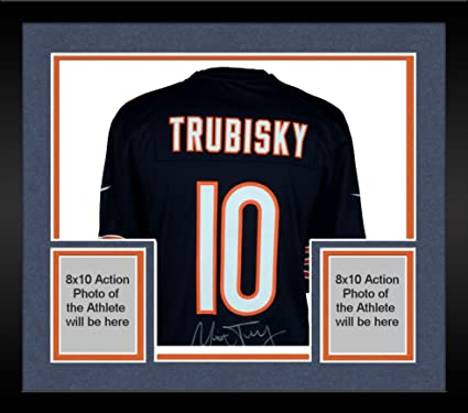 Image Unavailable. Image not available for. Color  Framed Mitchell Trubisky  Chicago Bears Autographed Nike Navy Game Jersey - Fanatics Authentic  Certified f6f7db597